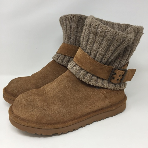 81665ff166e UGG 1003175 Chestnut Boots Cambridge Knit Suede 7